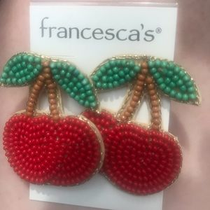 Francesca's Cherry Cluster Earrings NWT $28
